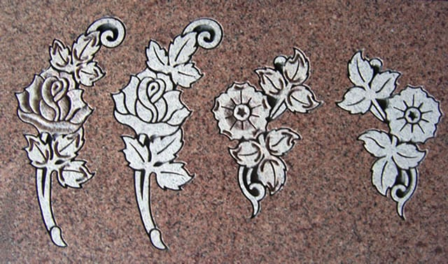 Shapecarving flowers